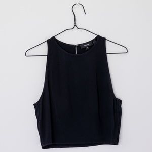 Theory Black Cropped Sleeveless Top